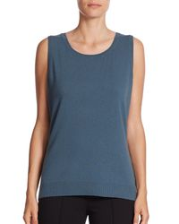 Lafayette 148 New York | Blue Wool Tank Top | Lyst