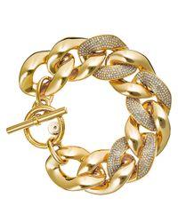 Michael Kors | Metallic Pavé Curb Link Statement Bracelet | Lyst