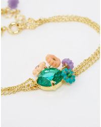 Les Nereides | Metallic Floral Delicate Bracelet | Lyst
