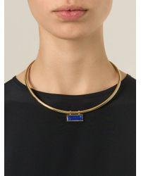 Isabel Marant - Metallic Rigid Necklace - Lyst