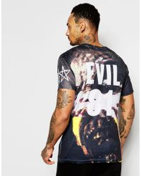 Born Idol - Purple Bone Idol Halloween Evil T-shirt for Men - Lyst