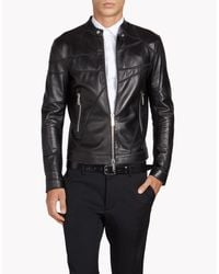 DSquared² | Black Patchwork Biker for Men | Lyst