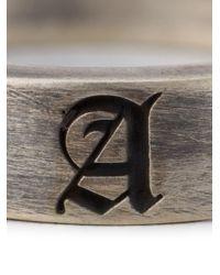 Christian Dada | Metallic Initial Band Ring | Lyst