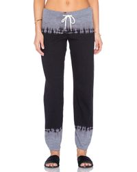 Monrow - Gray Black Out Tie Dye Varsity Sweatpants - Lyst