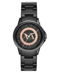 Armani Exchange - Black Crystal Dial Bracelet Watch - Lyst