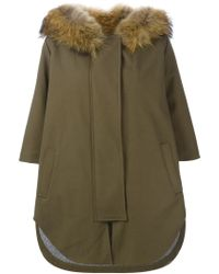Forte Couture | Green Fur Trimmed Parka | Lyst