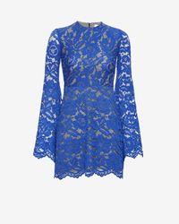 Alexis - Blue Bell Sleeve Lace Dress: Cobalt - Lyst