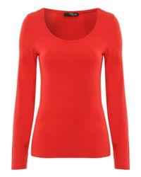 Jane Norman | Black Long Sleeve Essential Scoop | Lyst