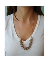 Spectrum | Metallic Saucer Wood Necklace | Lyst