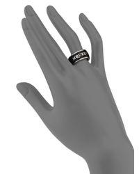 Alexander McQueen | Black Signature Enamel Band Ring/silvertone | Lyst