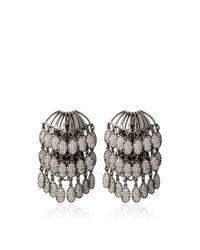 Nikos Koulis | Metallic Echo 18K Black Gold And Diamond Cascade Earrings | Lyst