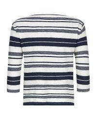 Ralph Lauren Blue Label - Blue Striped Boatneck Tee - Lyst