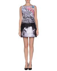 Mary Katrantzou - Gray Short Dress - Lyst