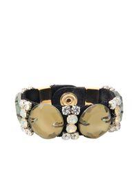 Marni - Gray Pistachio Crystals Bracelet - Lyst