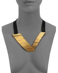 Maiyet | Black Empire Leather V Necklace | Lyst