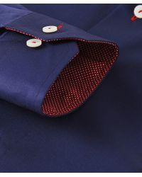 Eton of Sweden - Blue Contemporary Fit Trim Insert Shirt for Men - Lyst