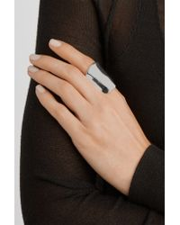 Jennifer Fisher - Metallic Crinkle Silver-plated Ring - Lyst