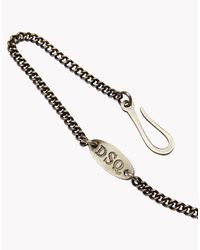 DSquared²   Metallic Chain for Men   Lyst