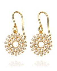 Astley Clarke | Metallic Rising Sun Lattice Diamond Earrings | Lyst