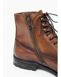 Mango | Brown Leather Boots for Men | Lyst