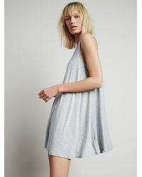 Free People - Gray Lalelei Tunic - Lyst