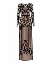 Temperley London - Black Long Catroux Dress - Lyst
