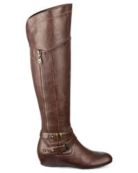 G by Guess | Brown Gaines Knee-high Wedge Boots | Lyst