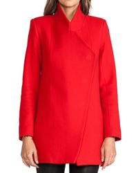 Nicholas - Red Felted Wool Coat - Lyst