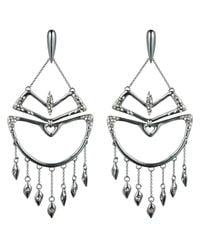 Alexis Bittar | Metallic Kinetic Ruthenium Encrusted Chandelier Earring You Might Also Like | Lyst