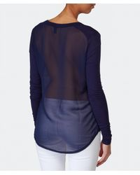 2nd Day - Blue Mang Long Sleeve Top - Lyst