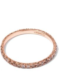 Anna Sheffield | Metallic Rose Gold Diamond Attelage Pave Band | Lyst