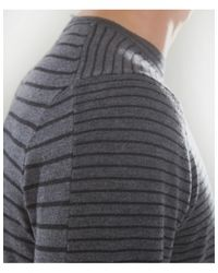 PS by Paul Smith - Gray Striped Merino Wool Sweater for Men - Lyst