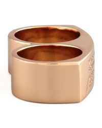 Marc By Marc Jacobs | Metallic Standard Supply Double Ring | Lyst