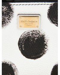 Dolce & Gabbana - Black Polka-Dot Leather Cardholder - Lyst