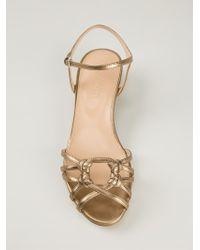 Sergio Rossi - Metallic Sandals - Lyst
