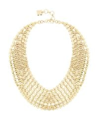 BCBGMAXAZRIA | Metallic Chain Bib Necklace | Lyst