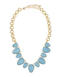 R.j. Graziano | Blue Oversized Collar Necklace | Lyst