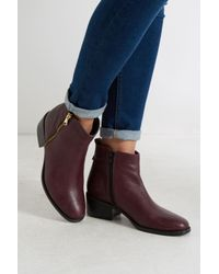 Oasis Purple Zip Side Ankle Boots