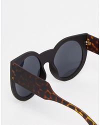 ToyShades - Black Rafferty Oversize Round Sunglasses - Lyst