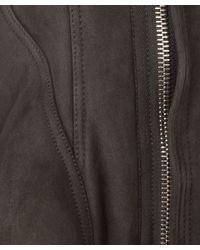 Rick Owens - Gray Dark Grey Naska Funnel Neck Tail Shearling Jacket - Lyst