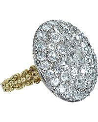 Olivia Collings | Metallic Old Cut Diamond Button Ring | Lyst