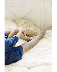 Urban Outfitters | Gray Honeycomb Over-the-knee Sock | Lyst