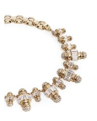 Lulu Frost | Metallic 'phantom' Crystal Pavé Baguette Charm Necklace | Lyst