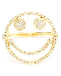 Rosa De La Cruz | Metallic Smiley Face Diamond Ring | Lyst