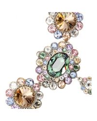 Miu Miu - White Crystal-embellished Pearl Necklace - Lyst