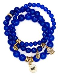 Sequin - Blue Hope Hamsa Bracelets, Set Of 3 - Lyst