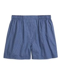Brooks Brothers - Blue Traditional Fit Stripe Check Boxers for Men - Lyst