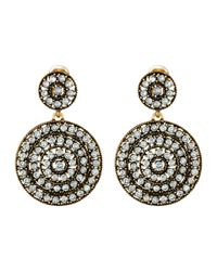 Oscar de la Renta | Metallic Disk Earrings | Lyst