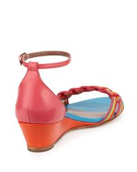 Tabitha Simmons - Multicolor Lotti Leather Demi-wedge Pump - Lyst