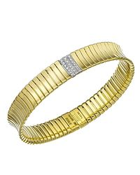 Chimento - Metallic 18k Yellow & White Gold Supreme Collection Ridge Arc Bracelet With Diamonds - Lyst